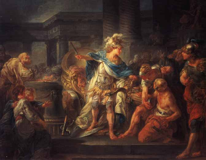 Alexander_cuts_the_Gordian_Knot_Jean_Simon_Berthelemy
